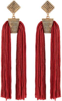 Panacea Double Tassel-Drop Earrings