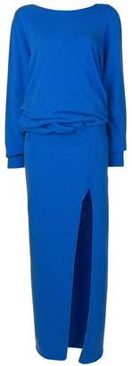 Jacquemus side slit dress