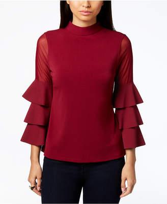 Thalia Sodi Illusion-Sleeve Top