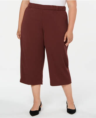 Alfani Plus Size Pull-On Culottes