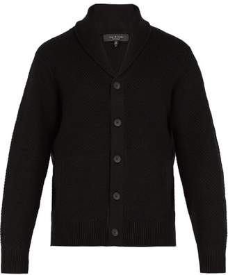 Rag & Bone - Cardiff Wool And Cotton Blend Shawl Cardigan - Mens - Black