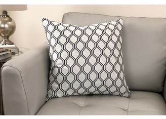 Armen Living Andante Contemporary Decorative Feather and Down Throw Pillow In Cobalt Jacquard Fabric