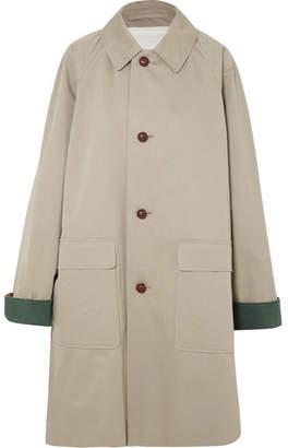 Burberry Cotton-gabardine Coat - Beige
