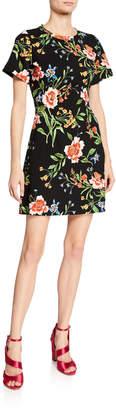 Rachel Roy Janie Floral Print Mini Dress