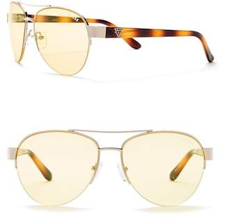 GUESS Women's Aviator 56mm Sunglasses