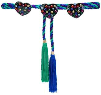 Philosophy di Lorenzo Serafini heart embellished bicolour rope belt with tassels