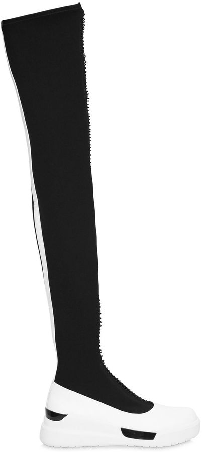 DKNY40mm Rowan Neoprene Over The Knee Boots