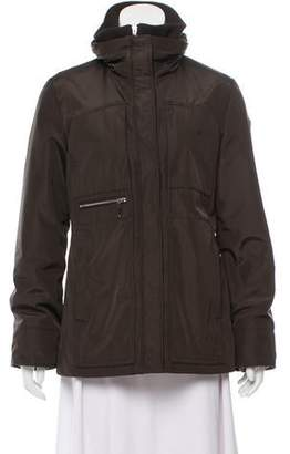 Post Card Stand Collar Zip Jacket