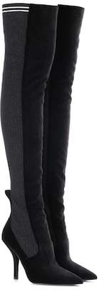 Fendi Rockoko velvet over-the-knee boots