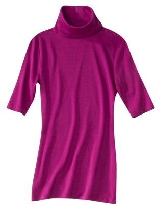 Mossimo Women's Tissue Turtle Neck Top - Assorted Colors`