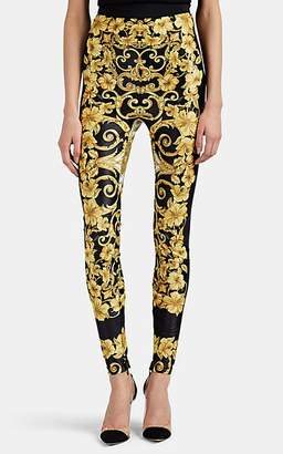 Versace Women's Hibiscus-Print High-Waist Leggings