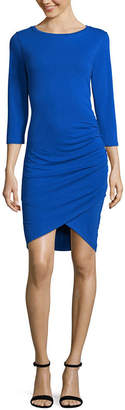 WORTHINGTON Worthington Side Shirred Dress - Tall