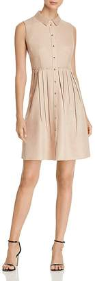 Elie Tahari Samiyah Pleated Fit-and-Flare Dress