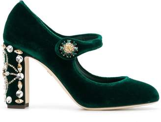 Dolce & Gabbana velvet Mary Jane pumps