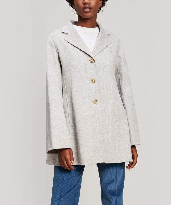 Wool and Cashmere Short Overcoat