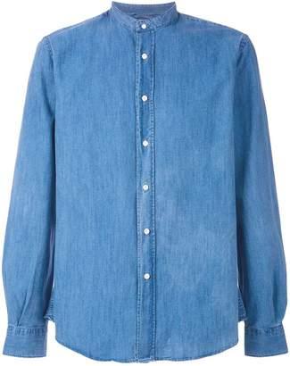 Aspesi mandarin neck denim shirt