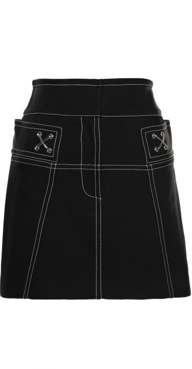 Alexander Wang High Waisted Mini Skirt With Contrast Topstitching