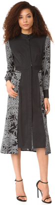 Diane von Furstenberg Long Sleeve Cinch Waist Shirtdress $548 thestylecure.com