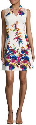 Spense Sleeveless Floral Fit & Flare Dress