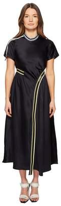 Sportmax Runway Desio Short Sleeve Asymmetrical Front Hem Dress Women's Dress