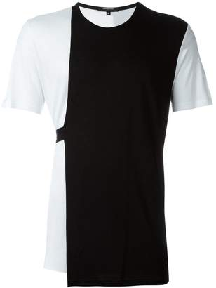 Unconditional loose contrast panel T-shirt