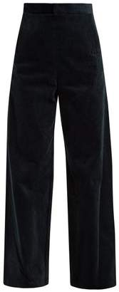 Toga Wide Leg Corduroy Trousers - Womens - Navy