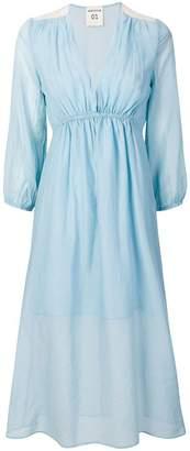 Semi-Couture Semicouture v-neck sheer dress