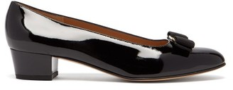 Salvatore Ferragamo Vara Black Patent Leather Pumps - Womens - Black