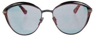 Christian Dior DiorMumure Mirror-Metallic Sunglasses