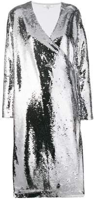 Ganni Sonora sequin wrap dress