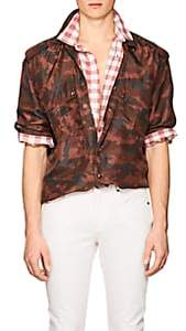 Faith Connexion Men's Camouflage Silk Military Shirt - Md. Red