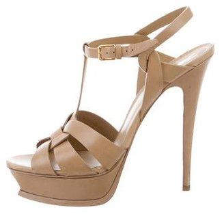 Yves Saint Laurent Tribute Platform Sandals $425 thestylecure.com