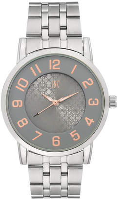 INC International Concepts Men's Silver-Tone Link Bracelet Watch 42mm
