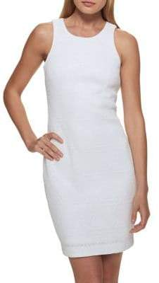 GUESS Geometric Sequin Mini Dress