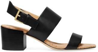 MICHAEL Michael Kors Angeline Leather Block Heel Sandals
