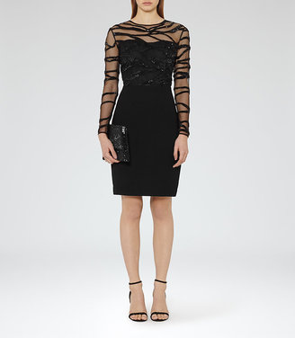 Rosalin Embellished Bodycon Dress $465 thestylecure.com