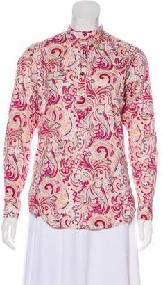 Etro Printed Button-Up Blouse