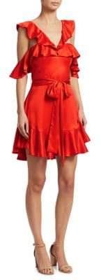 Zimmermann Ruffle Silk Mini Dress