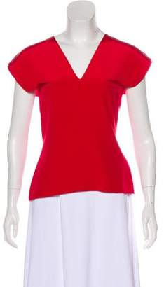 Roland Mouret Silk Short Sleeve Top