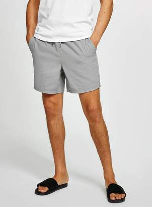 Topman Grey Canvas Shorts