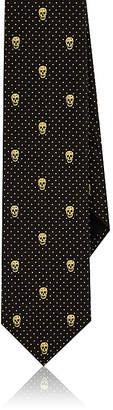 Alexander McQueen Men's Skull Silk Faille Necktie $175 thestylecure.com