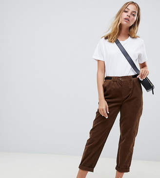 Asos DESIGN Petite cord pants with side tabs