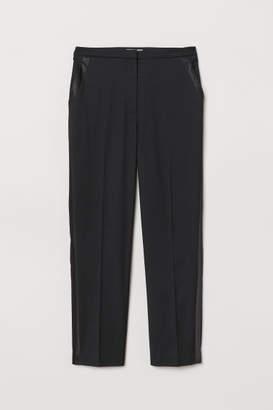 H&M Slacks with Side Stripes - Black