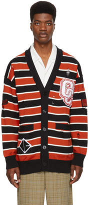 Opening Ceremony Black Varsity Stripe Cardigan
