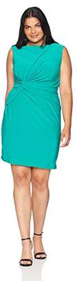 Adrianna Papell Women's Size Plus Matte Jersey Sheath Dress