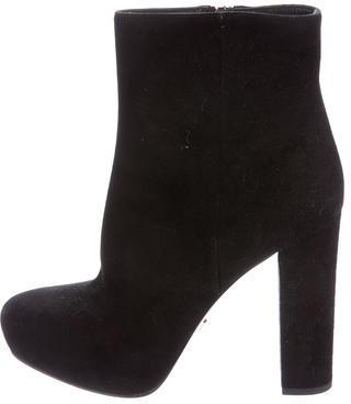 pradaPrada Suede Platform Ankle Boots