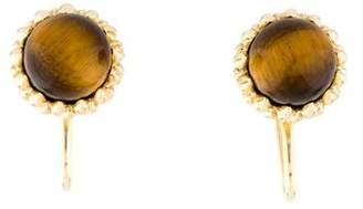 Tiffany & Co. 18K Tiger's Eye Acorn Earrings