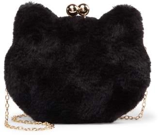 Pink Haley Jayla Faux Fur Cat Clutch