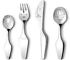 Georg Jensen The Twist Family Kids 4-Piece Cutlery Set