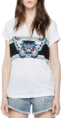 Zadig & Voltaire Butterfly Graphic Tee